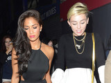 Miley Cyrus and Nicole Scherzinger out and about in London.