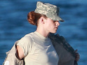Kristen Stewart wears military uniform on Camp X-Ray set - pictures.