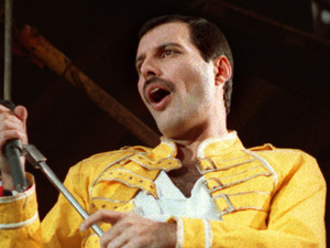 July 20, 1986 file photo, Queen lead singer Freddie Mercury is shown in Germany.