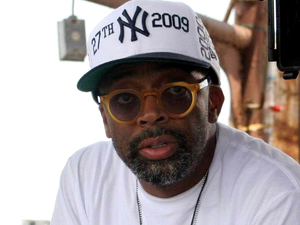 Spike Lee filming on location in 2010