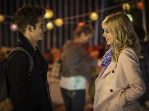Andrew Garfield as Peter Parker and Emma Stone as Gwen Stacy in 'The Amazing Spider-Man 2'