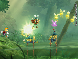 'Rayman Legends is a platforming sequel for Xbox 360, PS3, PC, Wii U and Vita.'