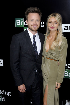 Aaron Paul, Lauren Parsekian t AMC 'Breaking Bad' special premiere at SONY Lot