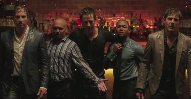 Ryan Hansen, Francis Capra, Jason Dohring, Percy Daggs III and Chris Lowell in 'Veronica Mars' movie