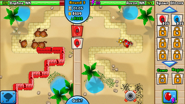'Bloons TD Battles' screenshot