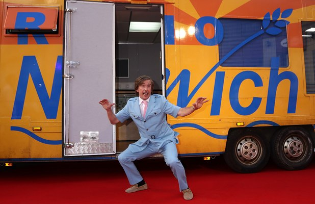 Steve Coogan, as his alter-ego Alan Partridge, arriving for the premiere of Alan Partridge : Alpha Papa, at the Vue West End in Leicester Square, central London.