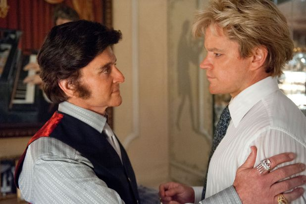 Behind The Candelabra, Michael Douglas as Liberace, Matt Damon, 2013, wig Feb 2013