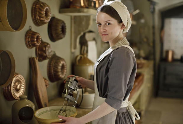 Daisy Mason is back as Downton's kitchen maid.