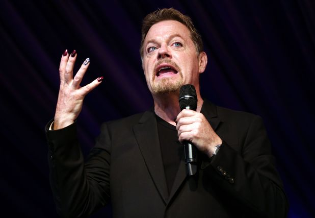 Eddie Izzard performs in the comedy tent on day 3 of Latitude Festival 2013 in Suffolk