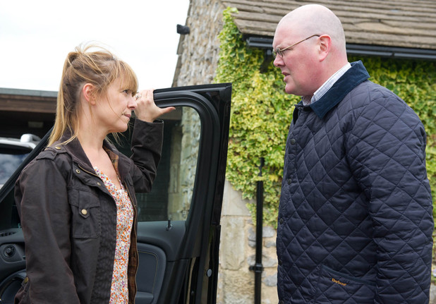 Paddy realises Rhona has been lying to him.
