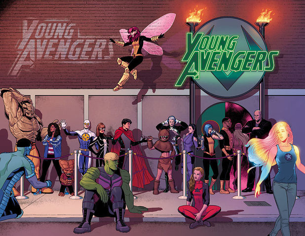 'Young Avengers: Afterparty' artwork