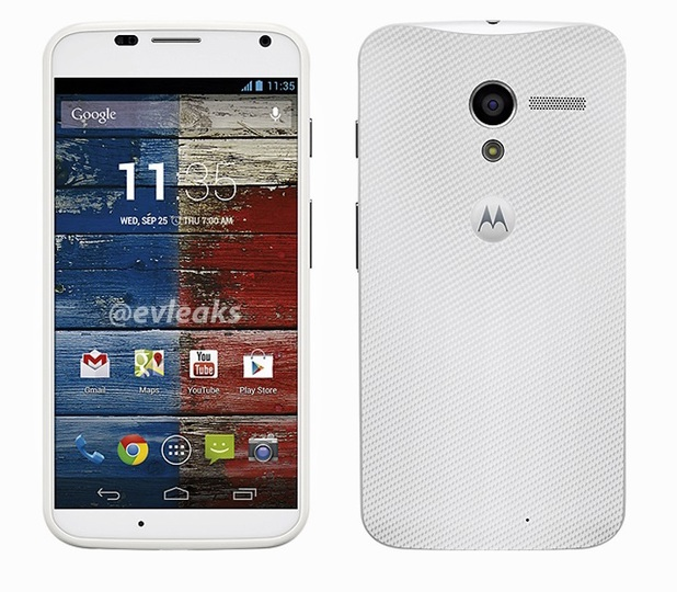 Leaked image of the Moto X smartphone in white
