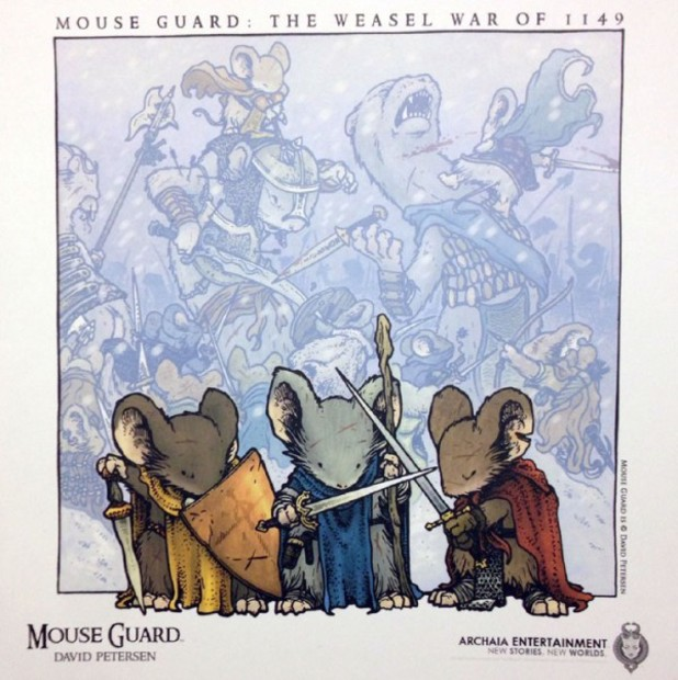 'Mouse Guard: The Weasel War of 1149' artwork
