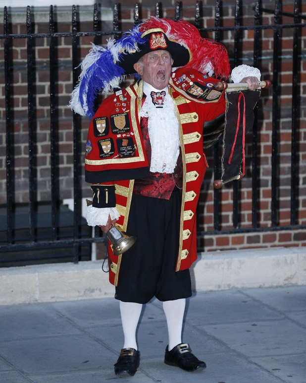 Town Crier announces baby's birth