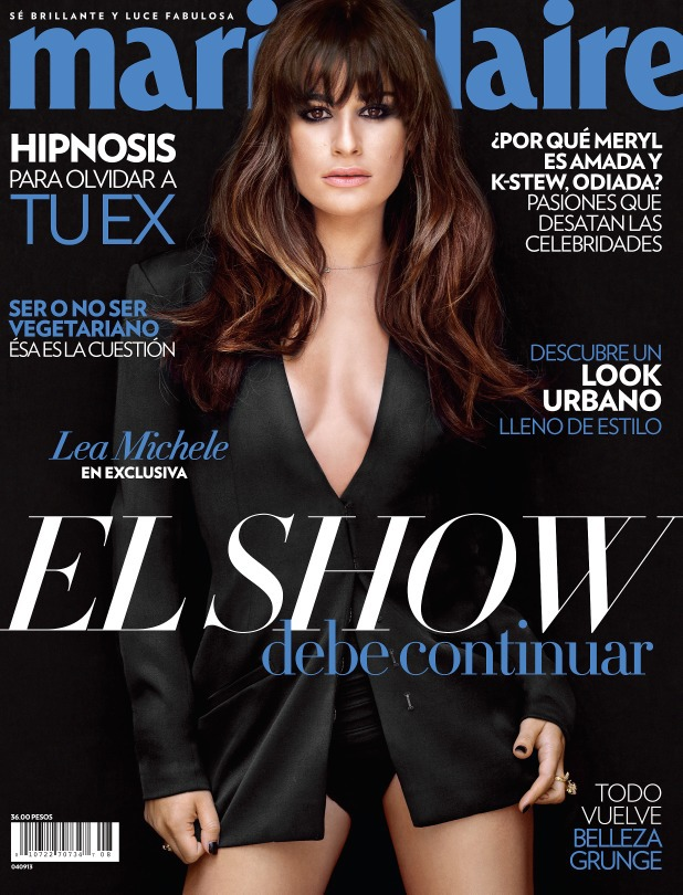 Lea Michele talks about Cory Monteith in 'Marie Claire' Mexico