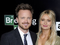 "Breaking Bad star also gushes about being in the ""honeymoon phase"" of marriage."