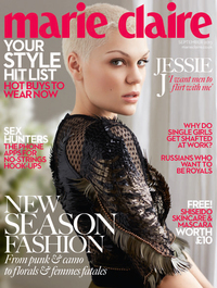 Jessie J on the cover of the September issue of Marie Claire
