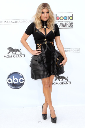 Fergie, Billboard awards 2011, Hervé Léger by Max Azria bondage dress