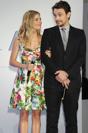Sienna Miller and James Franco at the BMW i3 launch