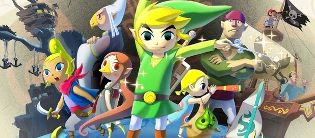 The Japanese cover art for 'The Legend of Zelda: Wind Waker HD'