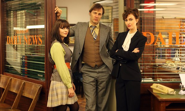 Jayd Johnson as Paddy Meehan, David Morrissey as Murray Devlin and Katherine Kelly as Maloney  in 'Field of Blood: The Dead Hour'