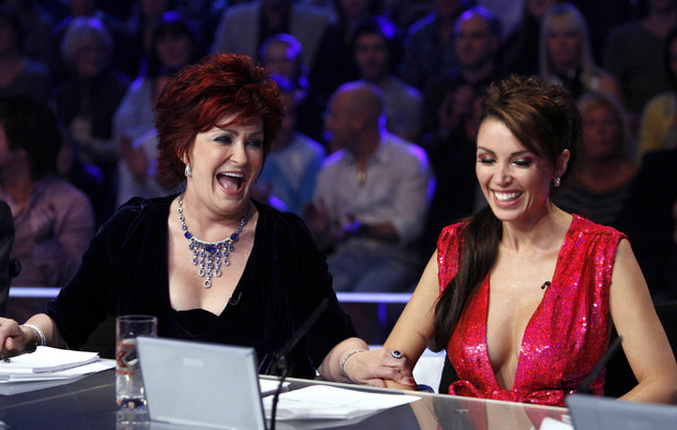 Sharon Osbourne, Dannii Minogue, 'The X Factor' TV Programme, London, Britain, 2007