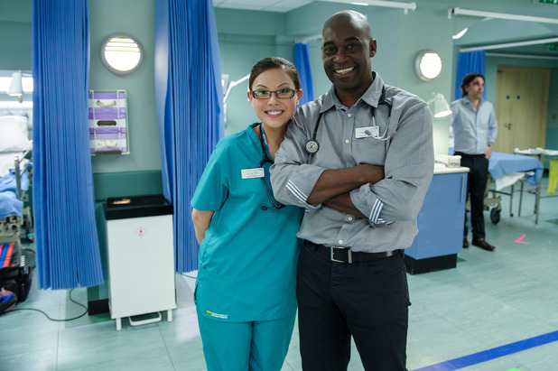 Casualty's Crystal Yu and Patrick Robinson