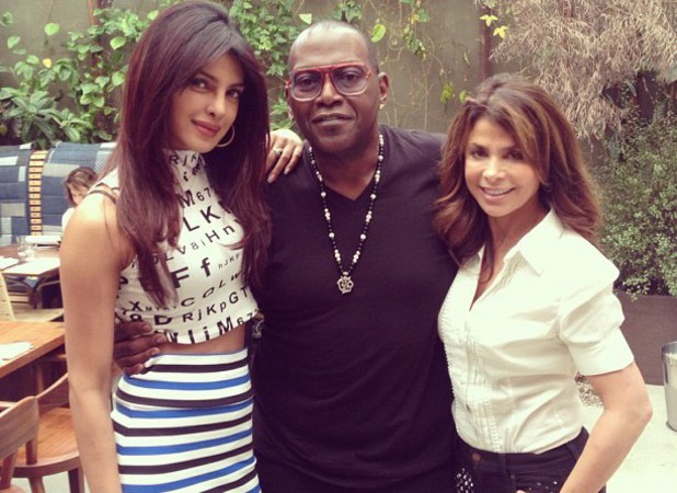 Priyanka Chopra with Randy Jackson and Paula Abdul