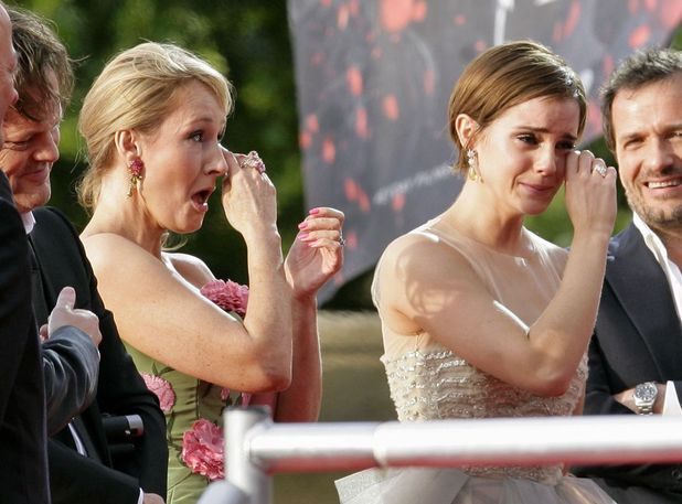 J K Rowling, Emma Watson at the world premiere of Harry Potter And The Deathly Hallows: Part 2.