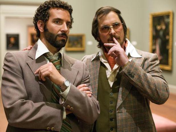 Bradley Cooper, Christian Bale in American Hustle
