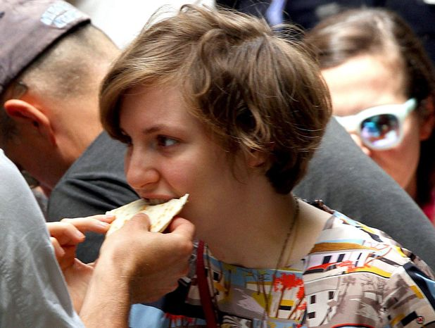 Lena Dunham, 'Girls' on set filming, New York, America - 31 Jul 2013