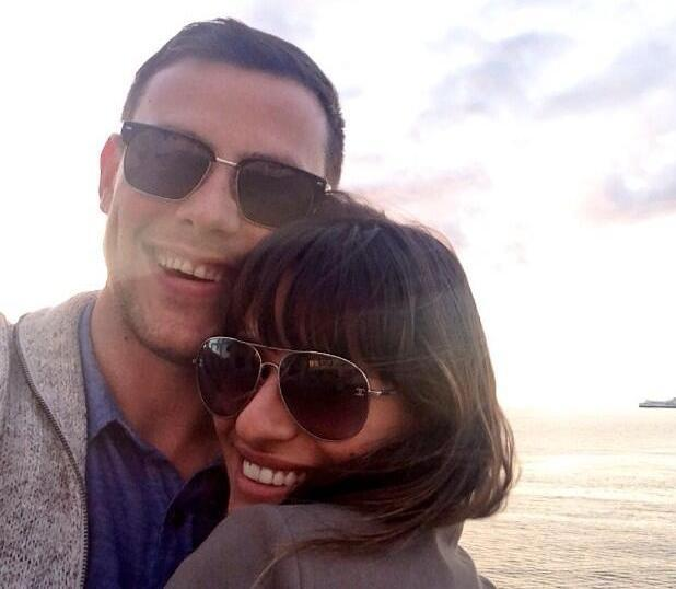 Lea Michele posts picture of she and Cory Monteith