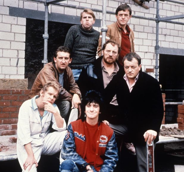 'Auf Wiedersehen Pet' - Christopher Fairbank, Pat Roach, Timothy Spall, Kevin Whately, Tim Healy, Jimmy Nail and Gary Holton