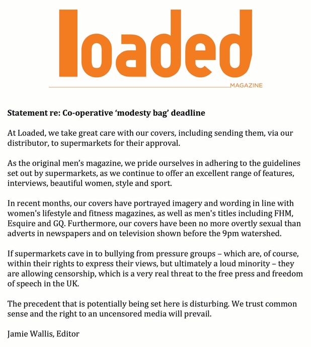 Loaded magazine statement