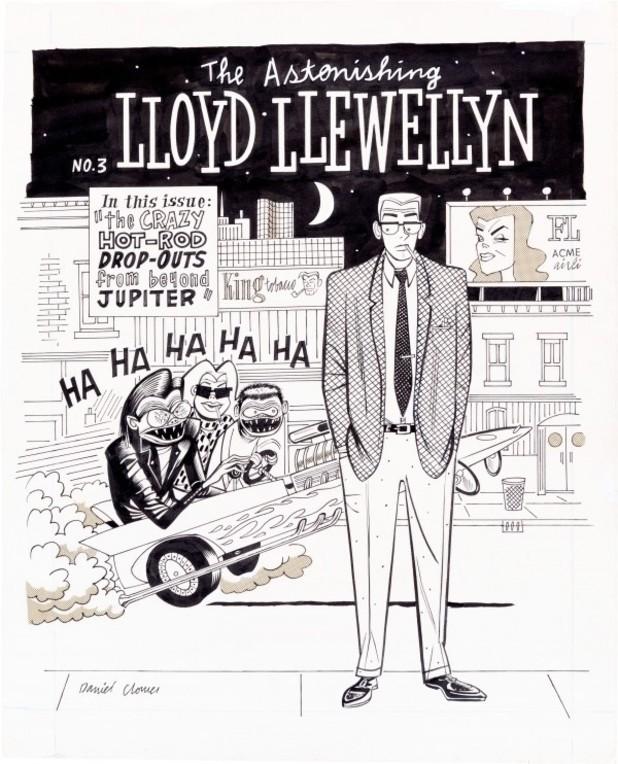 Daniel Clowes's 'Lloyd Llewellyn' #3 cover