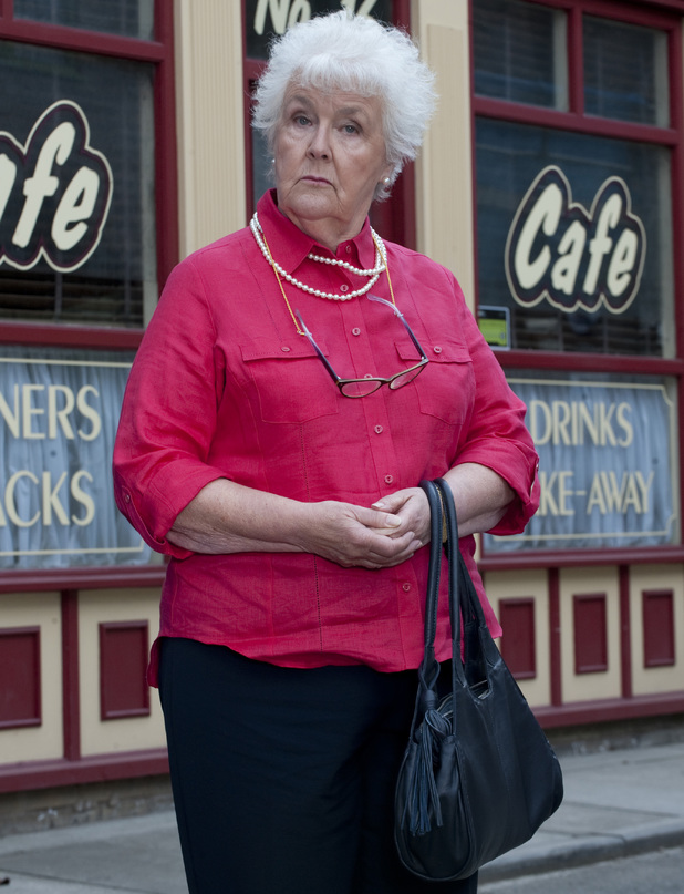 Stephanie Cole as Sylvia Goodwin in Coronation Street
