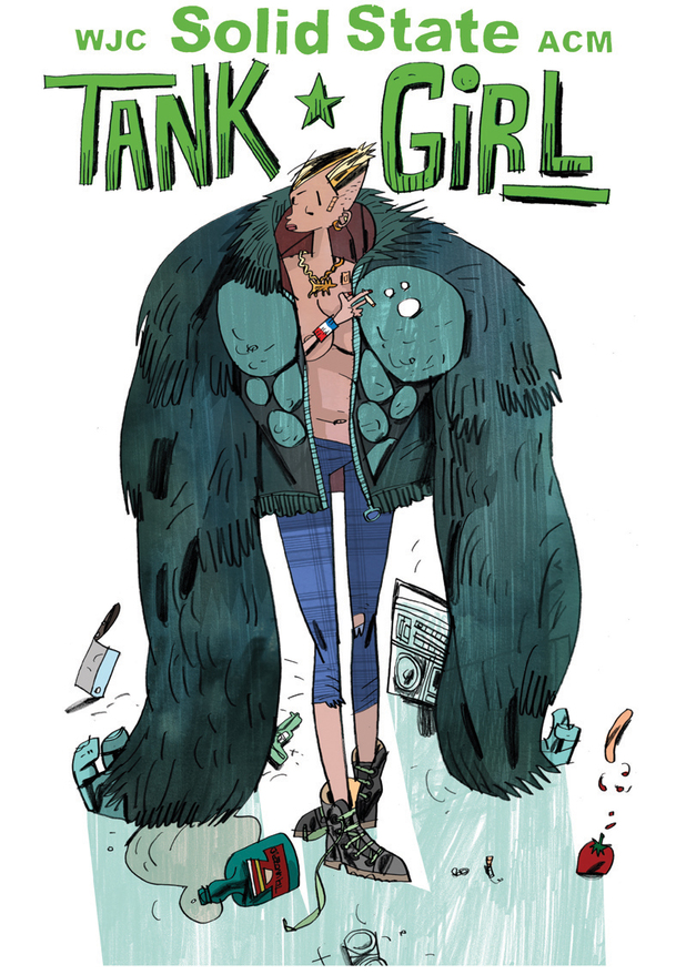 Solid State Tank Girl cover
