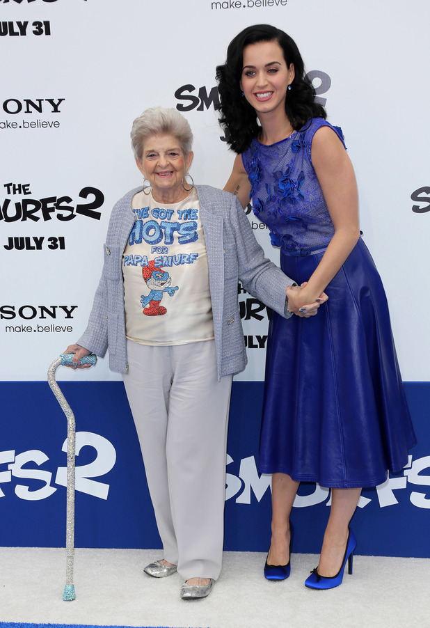 Katy Perry and grandmother Anna Hudson