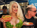 Courtney Stodden wearing a lettuce bikini and other ridiculous PETA stunts.