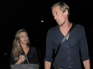 Abbey Clancy aka Abigail Crouch enjoys a low key dinner at Lemonia restaurant in posh Primrose Hill, with husband Peter Crouch
