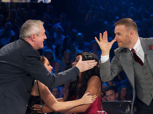 'The X Factor Live' TV Programme, Fountain Studios, London, Britain - 05 Nov 2011The Judges : Louis Walsh, Tulisa Contostavlos Kelly Rowland and Gary Barlow 5 Nov 2011