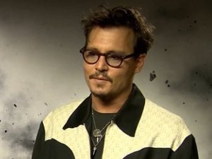 Johnny Depp, Lone Ranger junket screencap