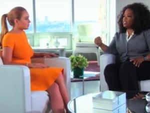 Oprah Winfrey interviews Lindsay Lohan