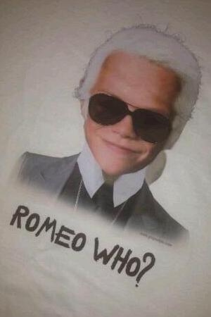 Romeo Beckham, Karl Lagerfeld morph
