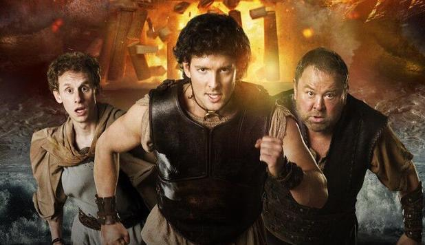 Robert Emms, Jack Donnelly and Mark Addy in 'Atlantis' poster