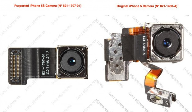 Purported leaked image of the iPhone 5S camera