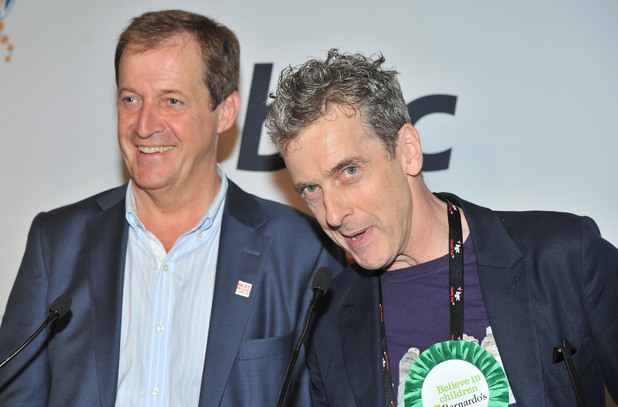 Peter Capaldi with Alastair Campbell