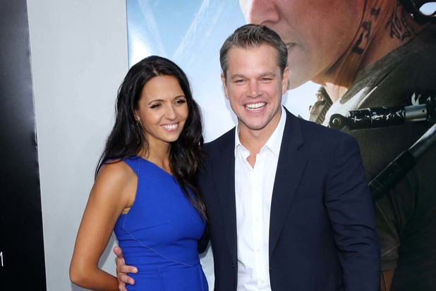 """Elysium"" - Los Angeles Premiere People: Matt Damon, Luciana Barroso"
