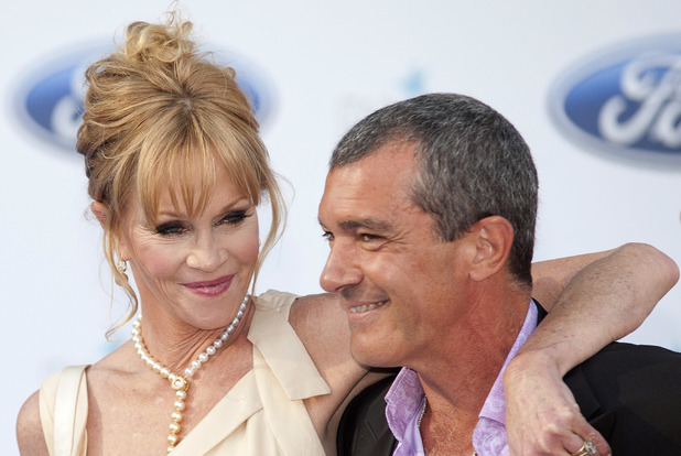 Melanie Griffith and Antonio Banderas attends the Starlite Benefit gala at the Starlite Festival.