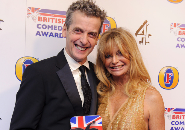 Peter Capaldi and Goldie Hawn